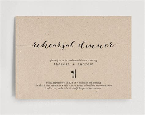 rehearsal dinner invitation template gangcraft net