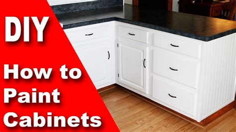 How To Paint Kitchen Cabinets White Diy Youtube How To Paint My Kitchen Cabinets White