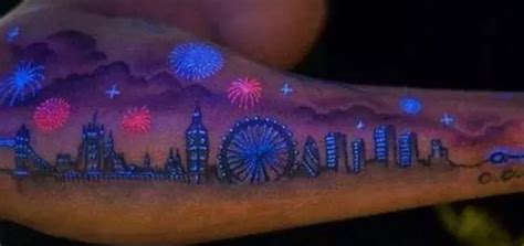 light colored tattoos light up the with glow in the tattoos