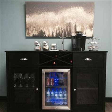 buffet table with built in wine cooler home bars and bar carts custommade