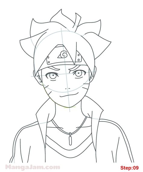 tutorial menggambar obito how to draw boruto uzumaki from naruto step 09 projects
