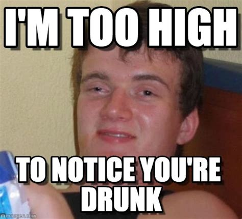 Drunk Guy Meme - i m too high 10 guy meme on memegen