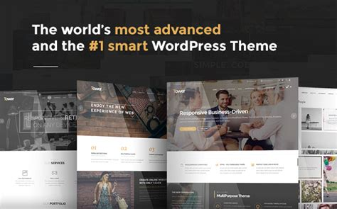 the galaxy design driven multipurpose wordpress theme tower business driven multipurpose wp theme by code less