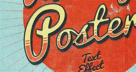 tutorial photoshop vintage effect psd poster vintage text effect photoshop text effects