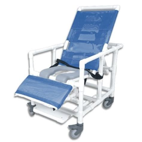 bariatric reclining wheelchair pvc reclining bariatric shower commode chair with open seat