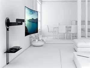 le mit schwenkarm vogels designmount next 7345 schwenkbar tv wandhalterung