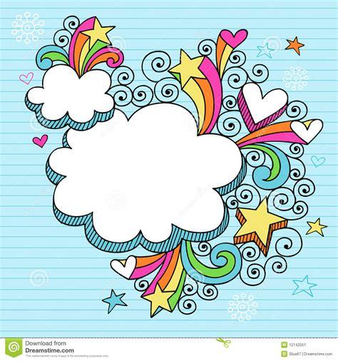 doodle doodle do vetor psicad 233 lico do doodle do caderno das nuvens imagem