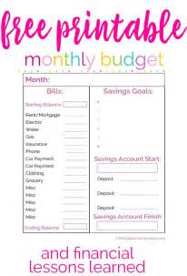 Budget Calendar Printable Free Monthly Budget Printable The Happier Homemaker