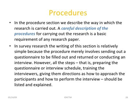 Procedure Of Paper - writing a research paper dr nguyen thi thuy minh