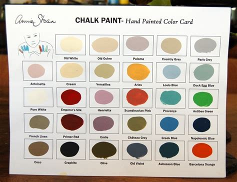sloan chalk paint color chart sloan chalk paint falls church va soul