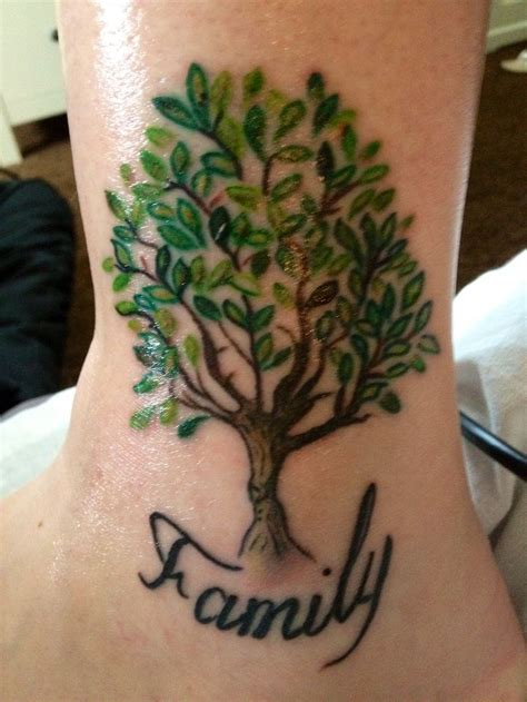small family tattoo designs my family tree next but with names in the