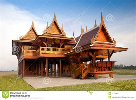 thai style house designs thai style house royalty free stock image image 19172956
