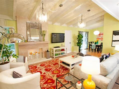 Yellow And Orange Living Room by Yellow Living Room With Orange And Rug Designers