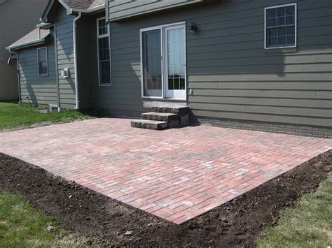 Simple Brick Paver Patio Designs Modern Patio Outdoor Easy Paver Patio