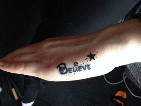 believe tattoo on hand disney believe tattoo on side of hand perfection