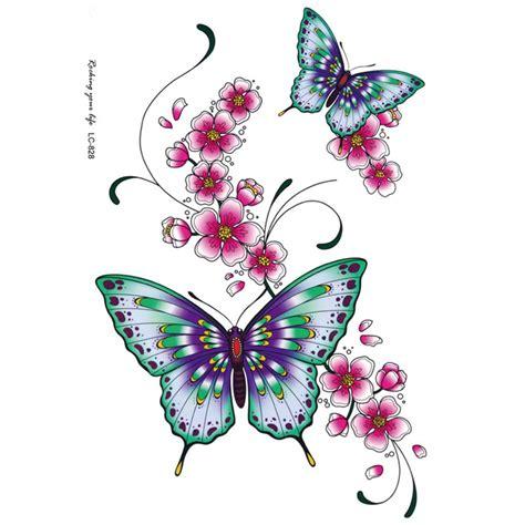 tattoo flower logo sexy tattoo sticker color butterfly flower beauty sexy