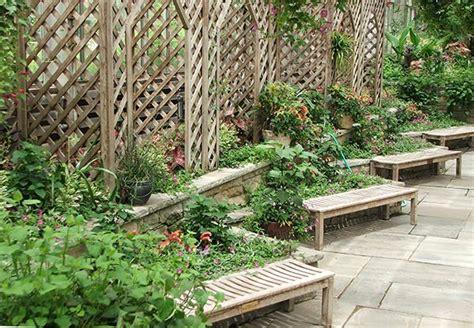 Garden Seat With Trellis garden benches seats