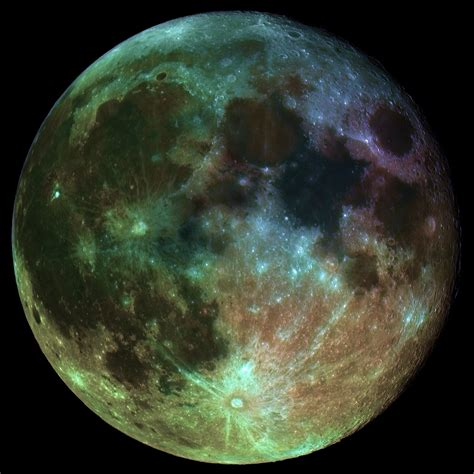 what color is the moon color intensified image of the moon