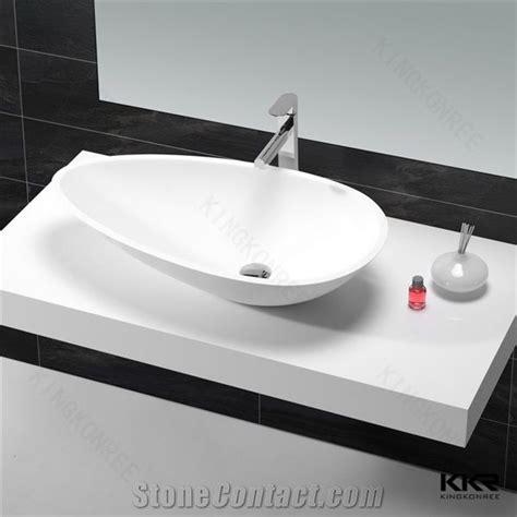 corian lavatory sinks corian solid surface sink resin stone wash sink oval matt