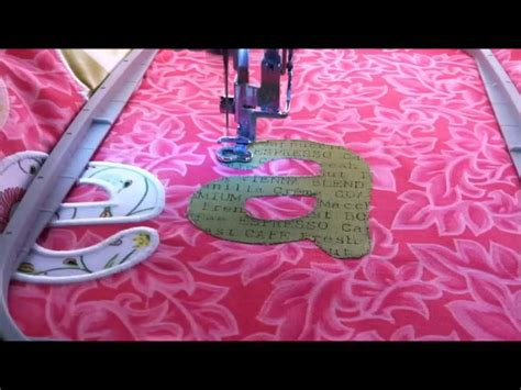 how to sew applique machine embroidery applique