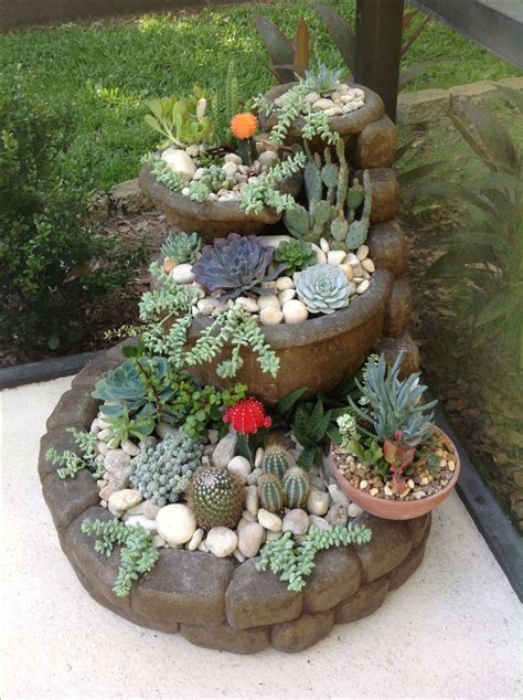 cactus planters best 25 outdoor cactus garden ideas on pinterest