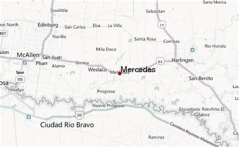 map of mercedes texas mercedes texas location guide