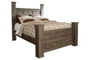 California King Storage Bed Frame by Juararo Storage Collection B251 California King Bed