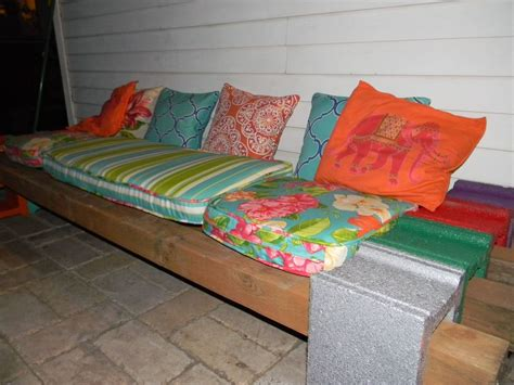 cinder block patio bench hometalk cinder block bench