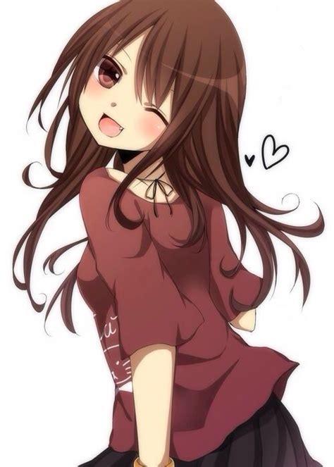 natalie brown hair blue eyes girl cute anime girl brown hair brown eyes anime