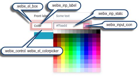 color picker css colorpicker css the documentation page for colorpicker