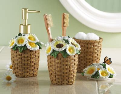 daisy bathroom set collections etc find unique online gifts at