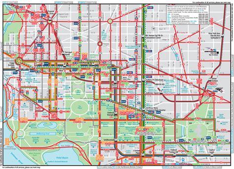 washington dc road map pdf washington dc downtown metrobus map city center mapsof net