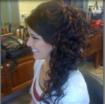 homecoming hairstyles one side curls and prom on pinterest