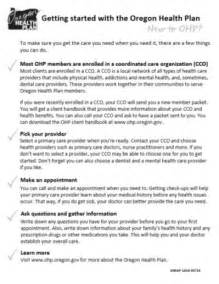 Health Insurance Welcome Letter Oregon Health Authority New To Ohp Oregon Health Plan State Of Oregon