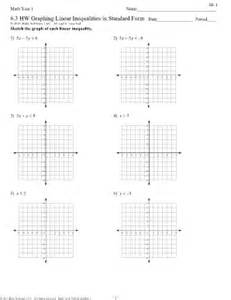 printable math worksheets graphing linear equations