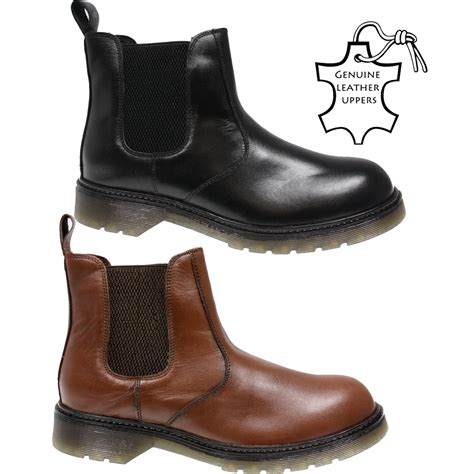 mens winter slip on boots mens genuine leather slip on chelsea dealer ankle winter