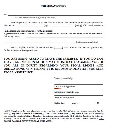 3 day eviction notice real estate forms