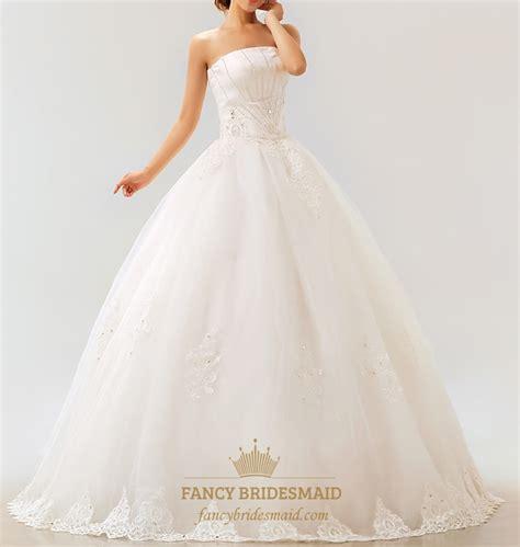 strapless white wedding dresses lace strapless wedding dress white wedding dresses for
