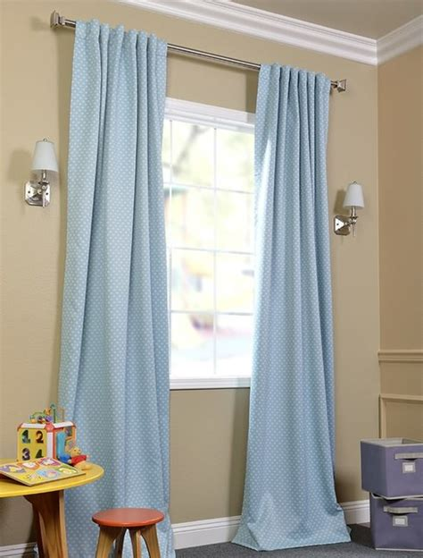Aqua Blackout Curtains Aqua Polka Dot Blackout Curtain Contemporary Curtains San Francisco By Half Price Drapes