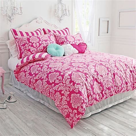 bed bath and beyond teen bedding wake up frankie damsel in damask reversible comforter set