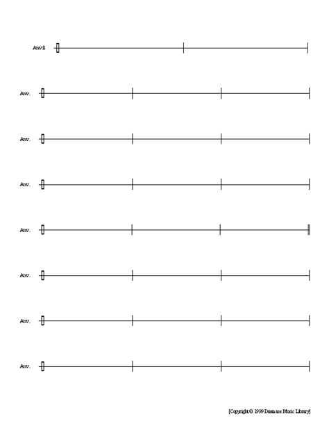 printable percussion staff paper print staff paper