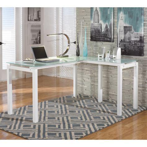 signature design  ashley baraga  shaped desk walmartcom