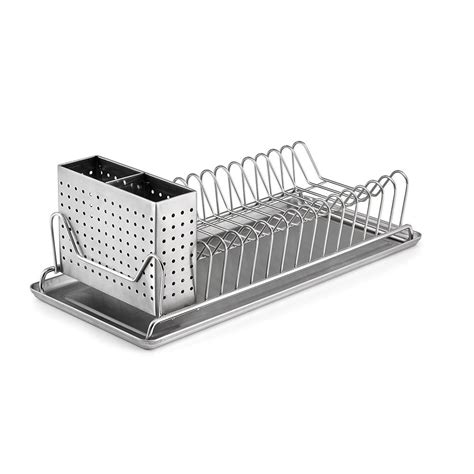 Kitchen Plate Drainer by Stainless Steel Sink Kitchen Dish Plate Rack Utensil
