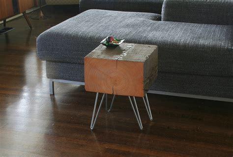 Koan Mini Coffee Table With Hairpin Legs Reclaimed Old Mini Coffee Table