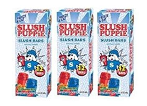 slush puppie flavors slush puppie slush bars 12ct 2 oz bars 4 flavors pack of 3