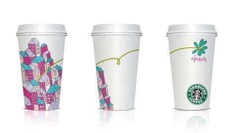 cup design starbucks cup design on behance