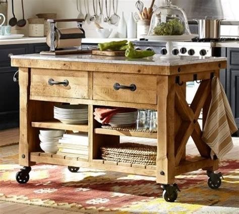 portable island bench farmhouse kitchen island with wheels home pinterest