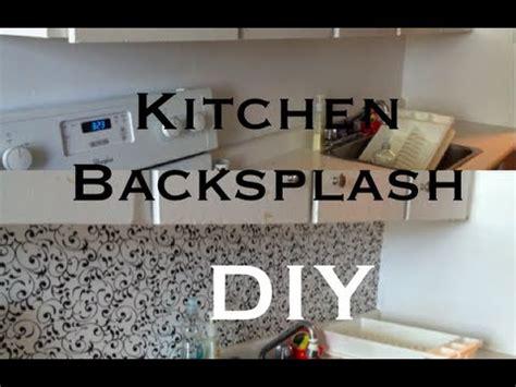 how to make a backsplash in your kitchen diy kitchen backsplash theeasydiy roomdecor