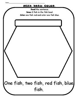 Dr. Seuss One Fish, Two Fish, Red Fish, Blue Fish