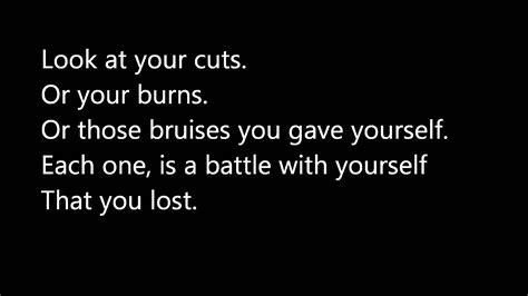 Self Harm/Depression Quotes   YouTube